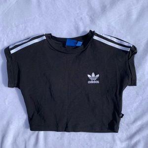 Black adidas crop top